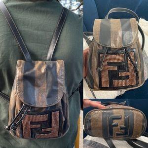 Rare🖤🤎Vintage Fendi mini Backpack